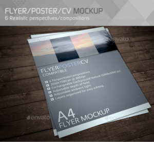 Realistic Flyer:Poster Mockup