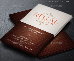 Regal Concierge Business Card Template