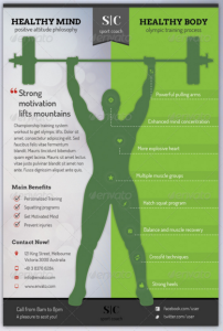 Sport Coach and Train Flyer - Gym Version