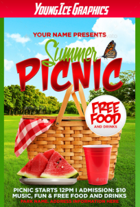 Summer Picnic Flyer Template