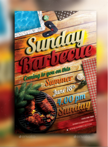 Sunday Barbecue Flyer