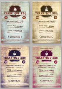 Thank 'Que Western BBQ Charity Flyer Template