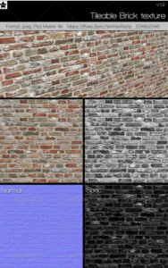 Tileable Brick texture 1 V1.2