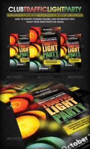 Traffic Light Party Nightclub Flyer
