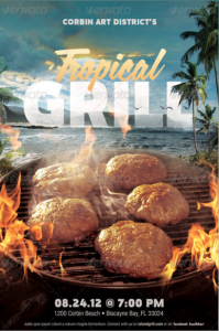 Tropical Grill Flyer Template