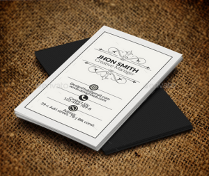 Vertical Retro Vintage Business Card Template