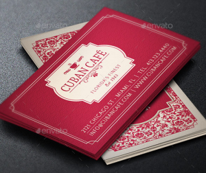 Vintage Cafe Business Card Template
