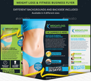 Weight Loss & Fitness Business Flyer