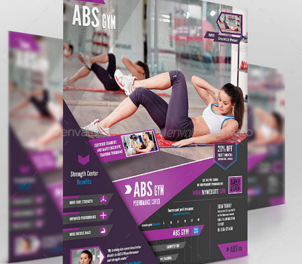 Workout Flyer Abs Gym