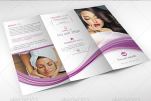 Beauty care and wellness trifold