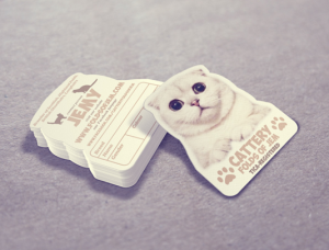 Cattery Folds of Jem business card design