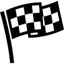 Checkered flag for sports