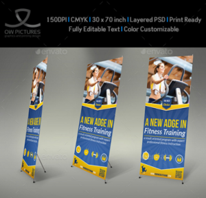 Fitness GYM Rollup Signage Banner Template
