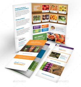 Organic Market Trifold Brochure