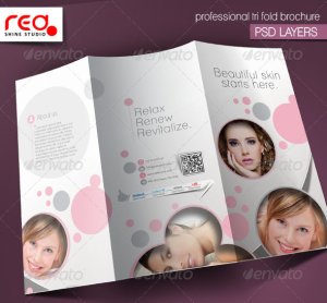 Promotional Salon Trifold Brochure Template