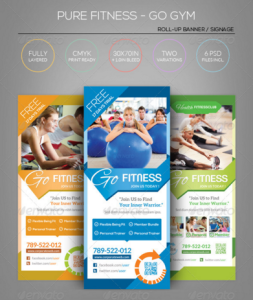 Pure Fitness - Go Gym - Roll-Up Banner Template