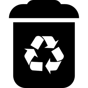 Recycle bin interface symbol
