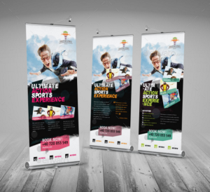 Skydive & Paragliding Roll-Up Banner