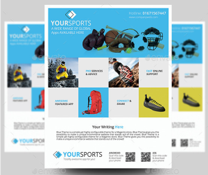 Sports Product Promotion Flyer