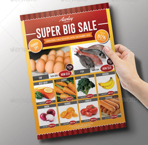 Supermarket : Product Promotion Flyer